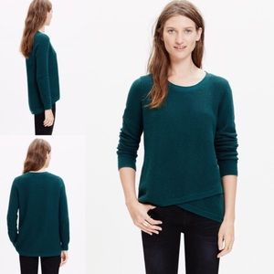Madewell Feature Pullover Sweater Pine Green Sz S